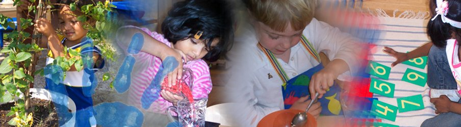montage of children at nursery